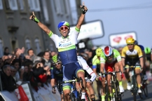 Cycling: 73th Paris - Nice 2015 / Stage 3/ Arrival / MATTHEWS Michael (Aus) Celebration Joie Vreugde / Saint-Amand-Montrond - Saint-Pourcain-sur-Sioule (179Km)/ PN Etape Rit Parijs /(c) Tim De Waele